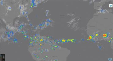 Cloud Top Height shown on BCI viewer 1 June 2015 at 00 UTC