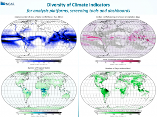 Climate Risk Management engine (CRMe) - Diversity of Climate Indicatorsfor analysis platforms, screening tools and dashboards