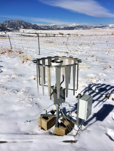 The Marshall site proved to be an ideal testing environment for gathering accurate measurements of snowfall rate.