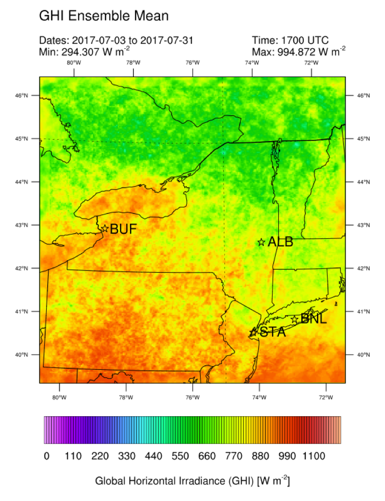 Solar Forecasting for New York State | NCAR Research
