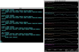WMDS display of user selected METARs (top) and time series plots of selected METARS (right).