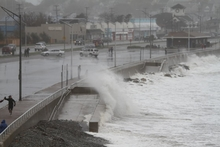 photo credit Jeff Cutler, waves crashing on Nantasket Beach, Hurricane Sandy - creative commons license